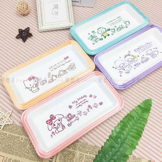 長形盤 三麗鷗 hello kitty 美樂蒂 kikilala 大寶 4款 餐盤 盤子 日本進口正版授權