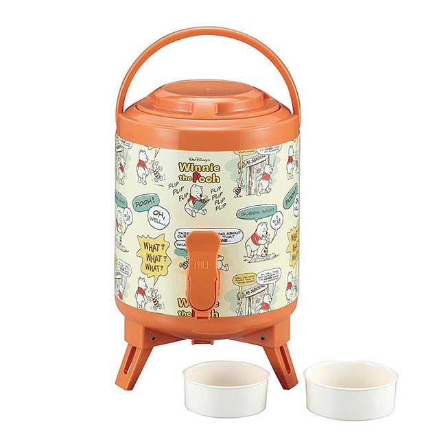 保溫冷水壺桶 迪士尼 Disney 小熊維尼 小豬 插畫 2.9L 手提 水桶 日本進口正版授權