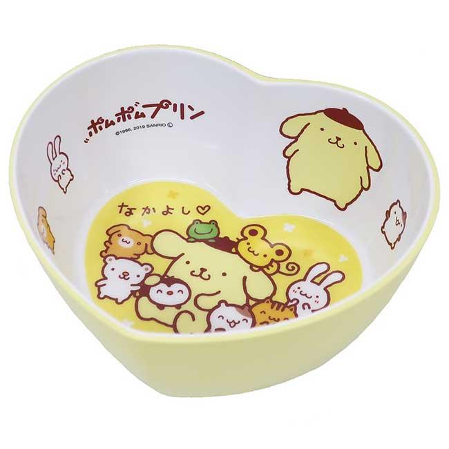 置物盤 三麗鷗 布丁狗 愛心型 黃色 卡通造型置物盤 日本進口正版授權