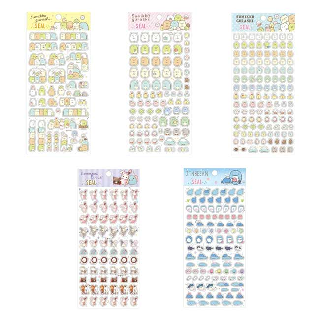 貼紙 日本 SAN-X 角落生物 角落小夥伴 憂傷馬戲團 鯨鯊先生 5款 造型貼紙 日本進口正版授權