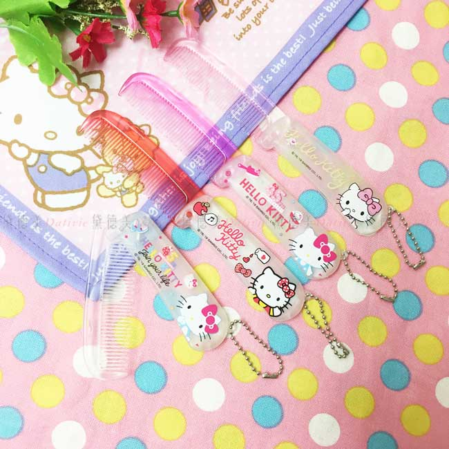 摺疊梳 三麗鷗 Hello Kitty 凱蒂貓 KT貓 透色 4款 梳子 正版授權