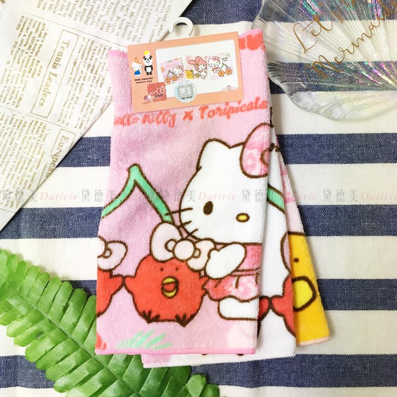 三麗鷗 3入小方巾 KITTY 正版授權