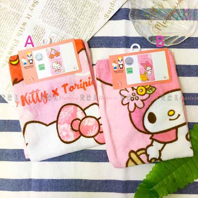 三麗鷗 童巾 毛巾 美樂蒂 KITTY 兩款 正版授權
