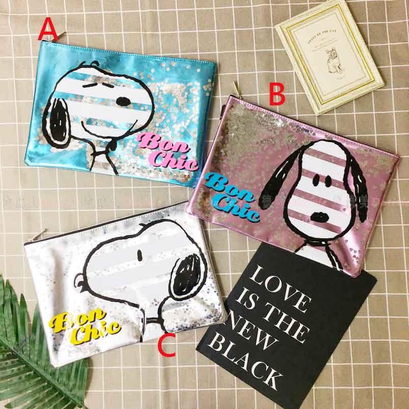 Snoopy A4閃亮資料袋 三款 史努比 正版授權