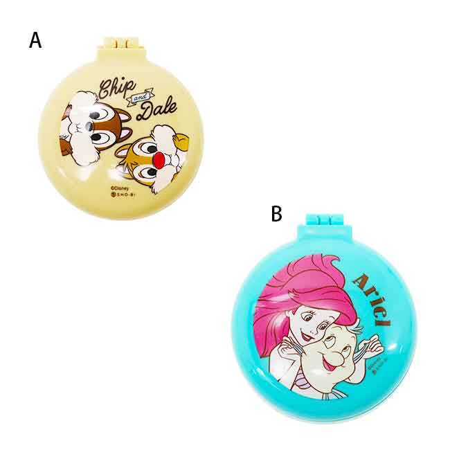 迪士尼 摺疊圓鏡梳組 兩款 日本進口
