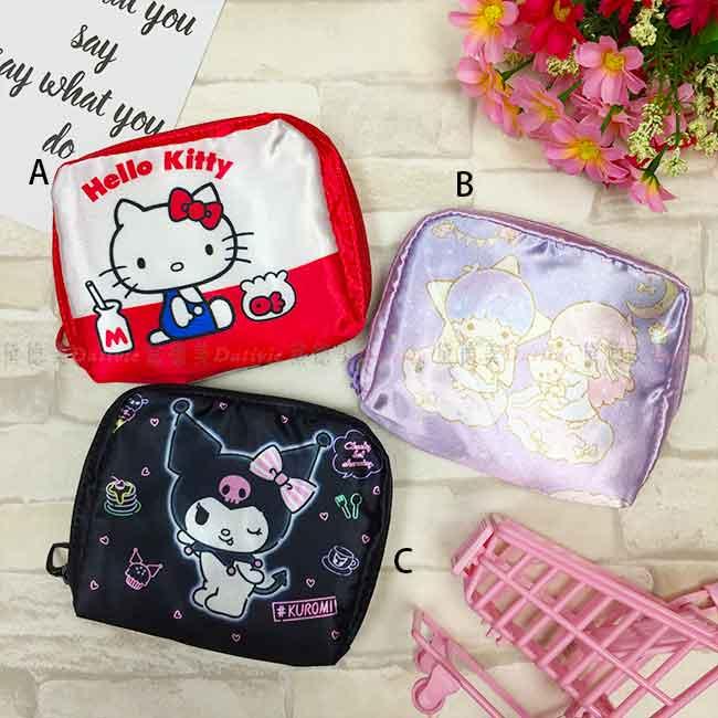 三麗鷗 緞面環保購物袋 收納 提袋 三款 日本進口