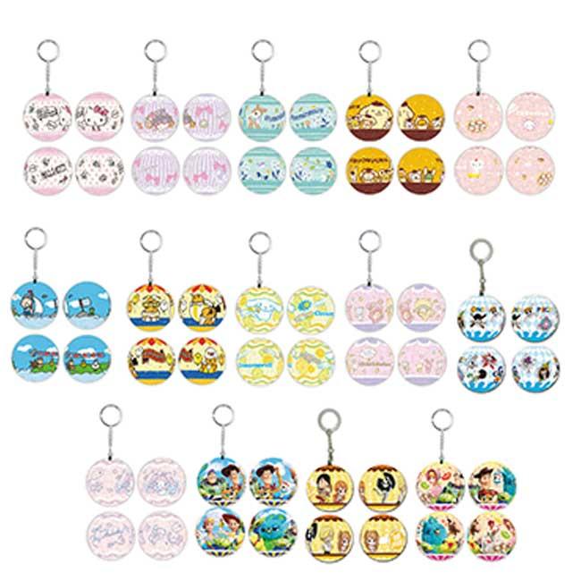 球型拼圖吊飾 三麗鷗家族 迪士尼 皮克斯 Kitty 玩具總動員4 海賊王 鑰匙圈 正版授權