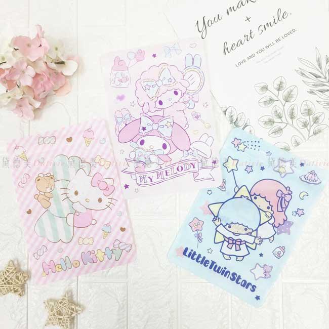 彩色密封袋 三麗鷗 Hello Kitty 美樂蒂 kikilala 5入 夾鏈袋 正版授權
