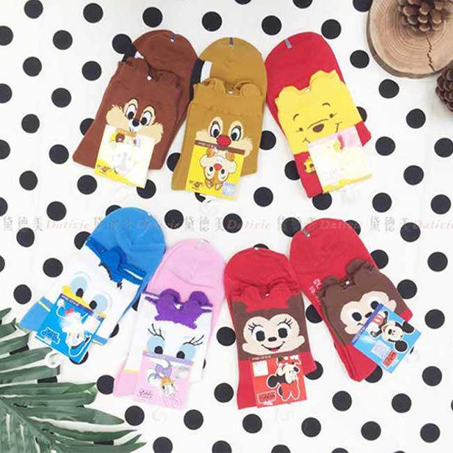 襪子 迪士尼 米奇米妮 維尼 奇奇蒂蒂 唐老鴨 黛西 1/2襪 少女襪 3尺寸 童襪 正版授權
