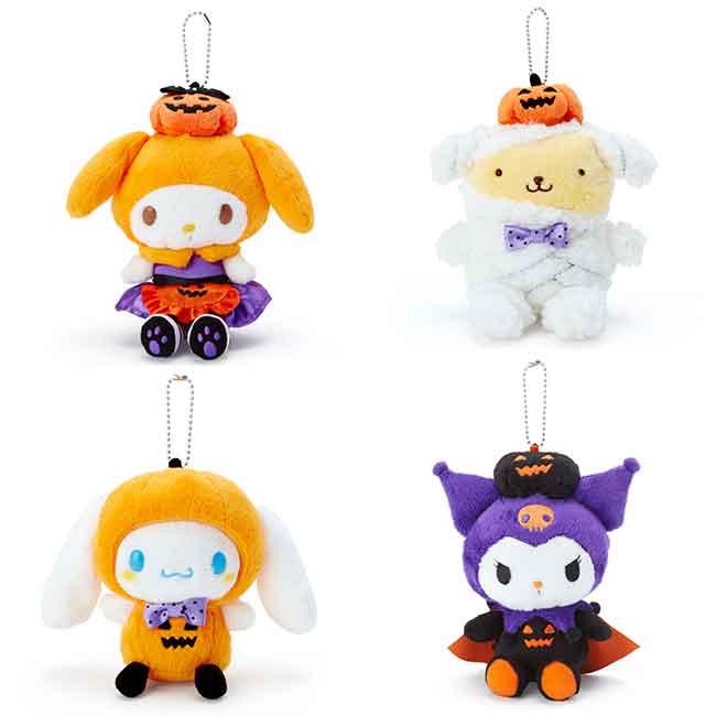 三麗鷗 萬聖節娃娃吊飾 玩偶 公仔 絨毛娃娃 四款 限定節日款 日本進口
