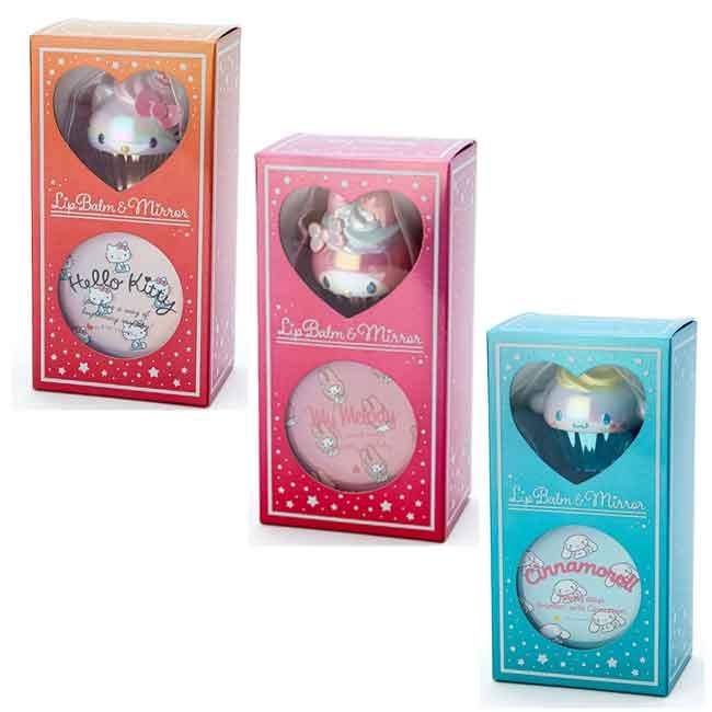 三麗鷗 護唇膏+鏡子組 三款 日本進口