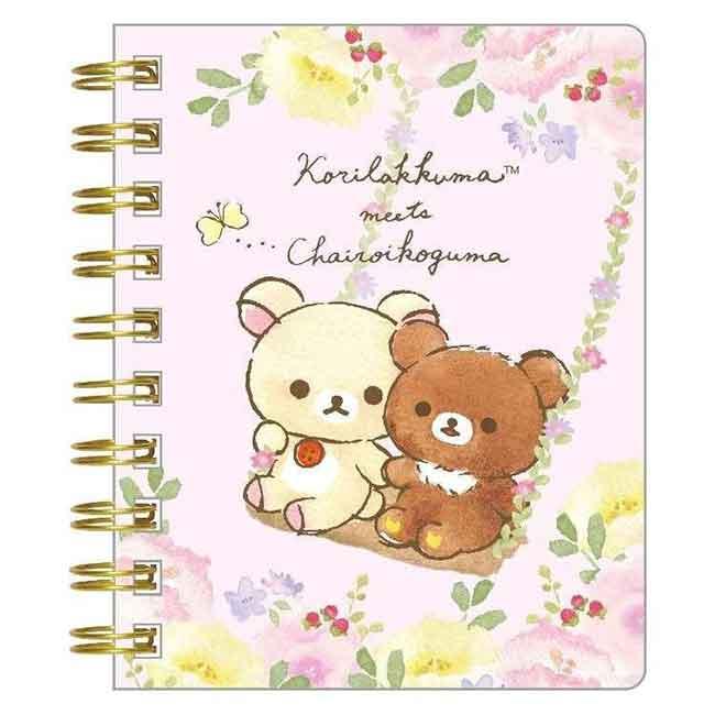 SAN-X 懶懶熊  彩色 橫線筆記本 (小) 鞦韆 日本進口