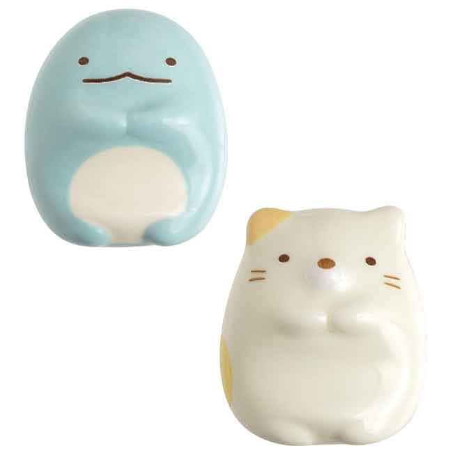 SAN-X角落生物 造型筷架 陶瓷 兩款 日本進口