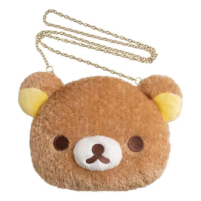 SAN-X 懶懶熊 造型絨毛側背包 日本進口
