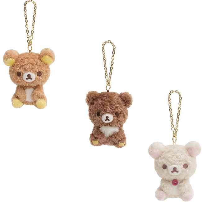 SAN-X 懶懶熊   絨毛娃娃吊飾 三款 日本進口