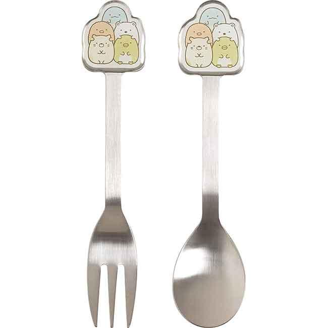 SAN-X 角落生物 甜點餐具 叉子 湯匙 兩款 日本進口