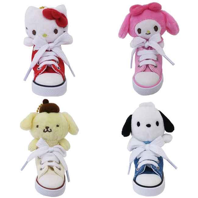 三麗鷗 帆布鞋娃娃吊飾 配飾 四款 日本進口