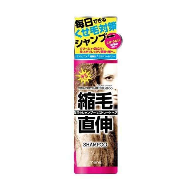 洗髮精 日本 Manis 捲毛對策洗髮精 生長直性毛髮 抗靜電 無矽靈 450ml 日本製