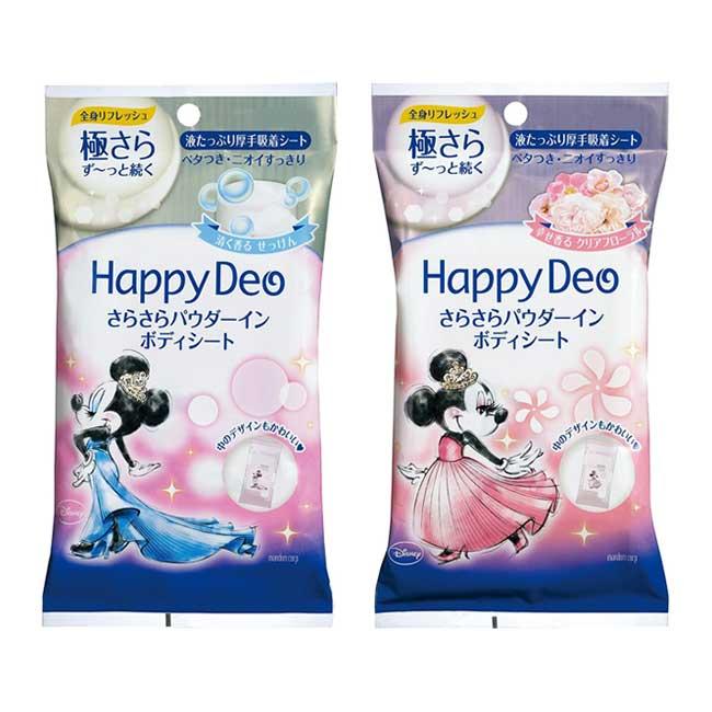 體用濕巾 日本 Mandom HAPPYDEO 米妮 皂香 玫瑰香 10枚入 日本製