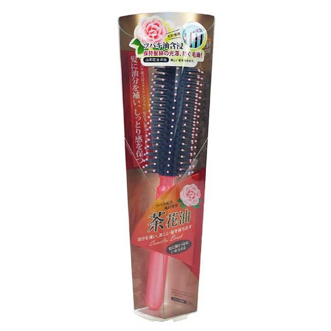 捲髮梳 山茶花 奈米鋅 整理頭髮 造型 梳子 台灣製