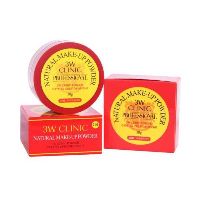 蜜粉 韓國 3W CLINIC 魔力蜜粉 無暇裸妝 持久服貼 淺膚色 自然色 30g 韓國製造進口