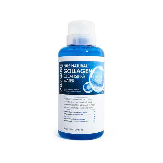 卸妝水 韓國 FarmStay 膠原蛋白 深層潔淨 溫和保濕 清潔毛孔 500ml 韓國製造
