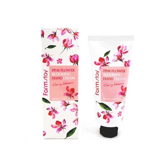 護手霜 韓國 FarmStay 花的綻放護手霜 櫻花香味 滋潤 修護手部肌膚 100g 韓國製造