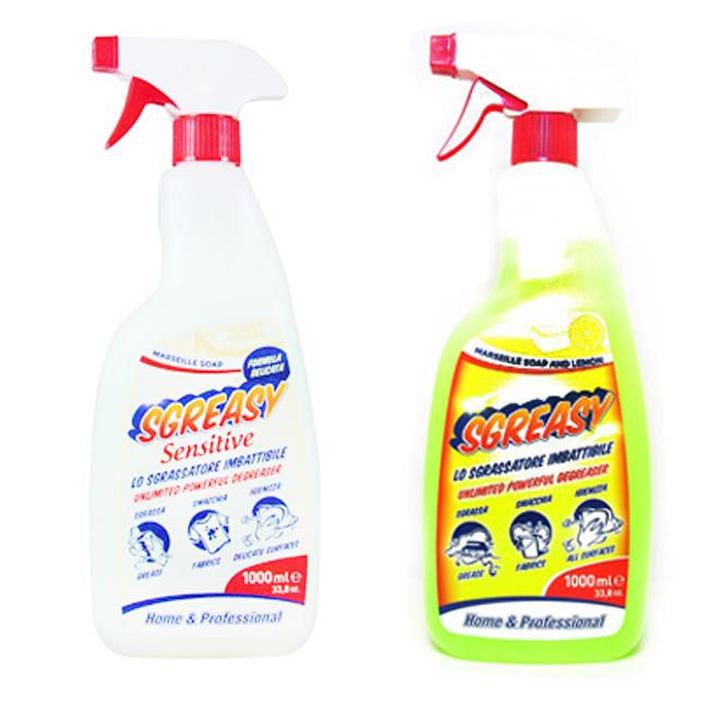 清潔劑 義大利 SGREASY馬賽皂 檸檬 萬能清潔液 多用途 1000ml 義大利製造進口