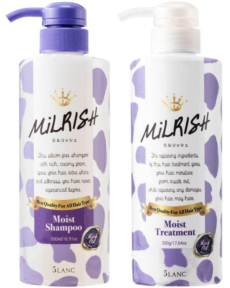 洗護髮組 日本 Lanc Milrish 白麝香 柔順 修護保濕 造型 順髮 500mlx2 日本製造進口