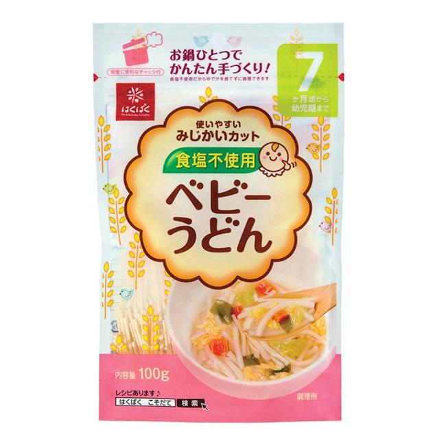 烏龍麵 日本 Hakubaku 黃金大地 嬰幼兒專用無鹽 小麥麵條 離乳食 副食品 100g 日本製造進口
