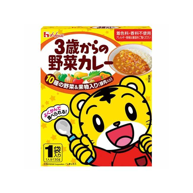 調理包 日本 House 巧虎 野菜咖哩 3歲 孩童用 調味包 130g 日本製造進口