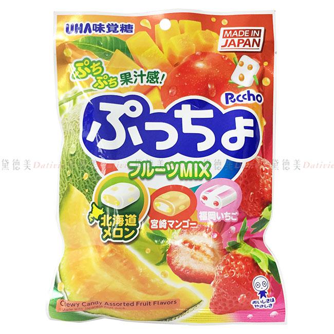軟糖 日本 UHA 味覺糖 普超 哈密瓜 草莓 芒果 綜合 水果 風味 糖果 90g 日本製造進口