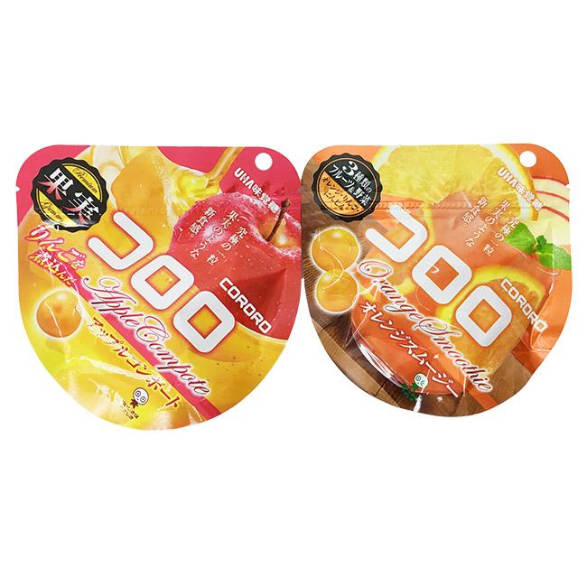 軟糖 日本 UHA 味覺糖 果汁QQ軟糖 糖漬蘋果 橘子果昔 零食 酸甜 果肉 40g 日本製造進口