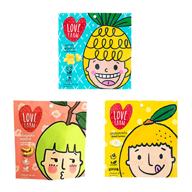 水果乾 泰國樂福農場 辣鳳梨乾 梅子芭樂乾 檸檬乾 袋裝 乾燥 水果 40g