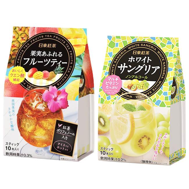 茶粉 日本 日東紅茶 綜合水果茶粉 熱帶水果風味 奇異果.葡萄.葡萄柚綜合水果 沖泡包 10入/85g.95g 日本製造進口