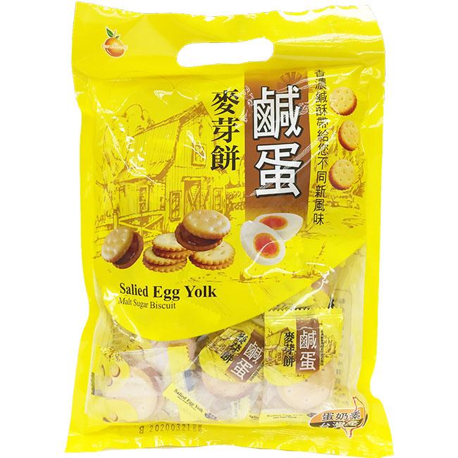 麥芽餅 鹹蛋風味麥芽餅 麥芽夾心餅 下午茶 零嘴 蛋奶素 200g