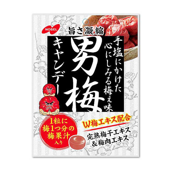 糖果 日本 NOBEL 諾貝爾男梅糖 濃縮 梅肉 酸甜 76.5g 日本製造進口