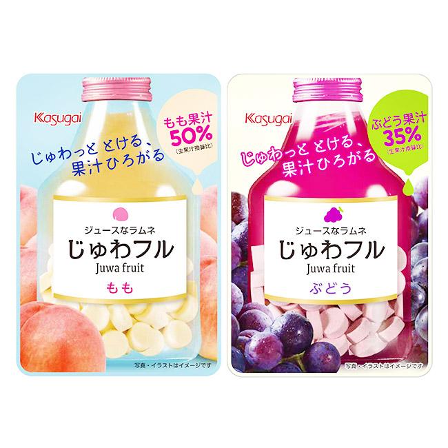 糖果 日本 春日井 汽水糖 白桃 葡萄 零食 零嘴 25g 日本製造進口