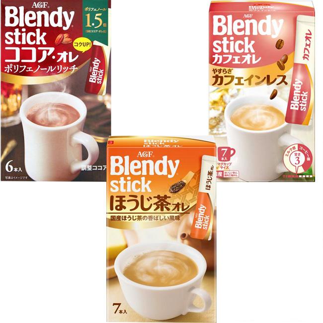 飲品 日本 AGF 歐雷沖泡粉 可可 焙茶 咖啡 6入/66g 日本製造進口