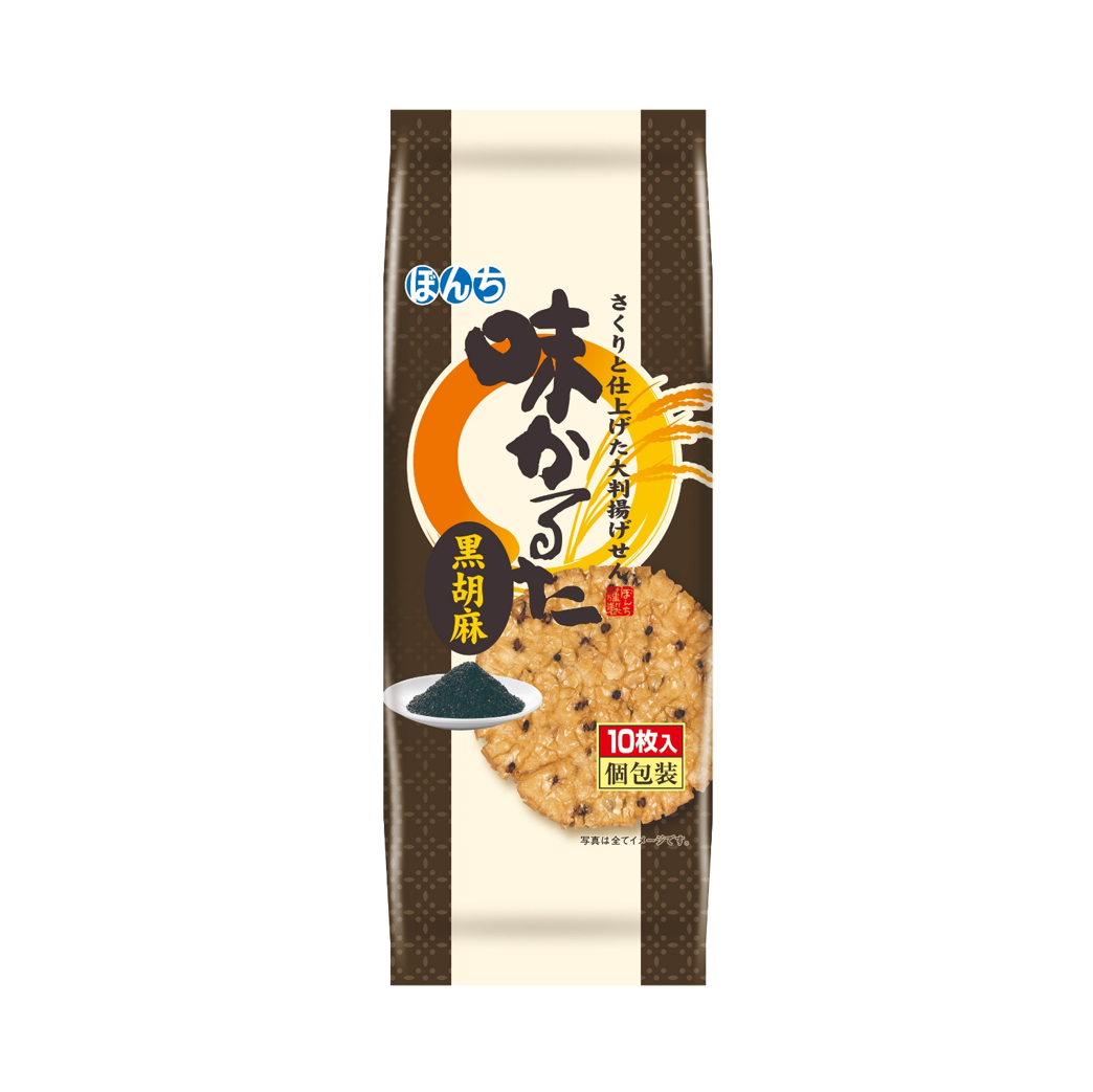 餅乾 日本 黑芝麻蜂蜜米果 190g 日本製造進口