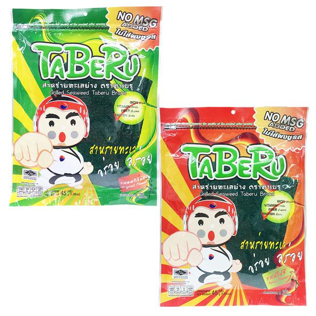 海苔 TABERU 海苔 原味 辣味 45g 泰國製造進口