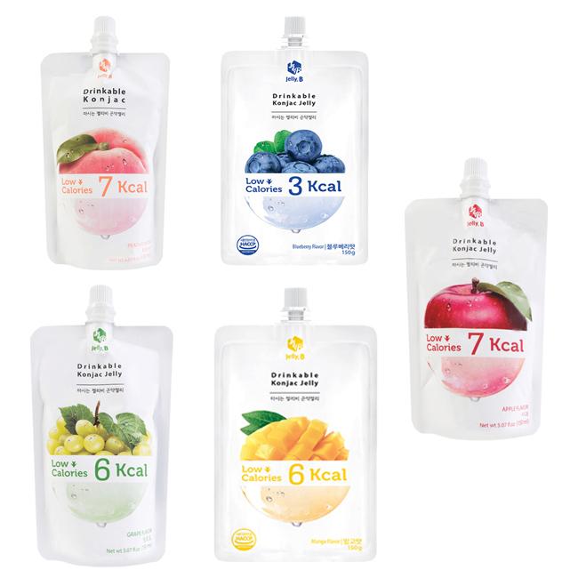 果凍 Jelly.B低卡蒟蒻果凍 水蜜桃 藍梅 青葡萄 芒果 蘋果 150g 韓國製造進口