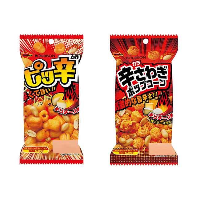 餅乾 日本 BOURBON 辛辣風味餅乾 米菓 爆米花 40g 日本製造進口