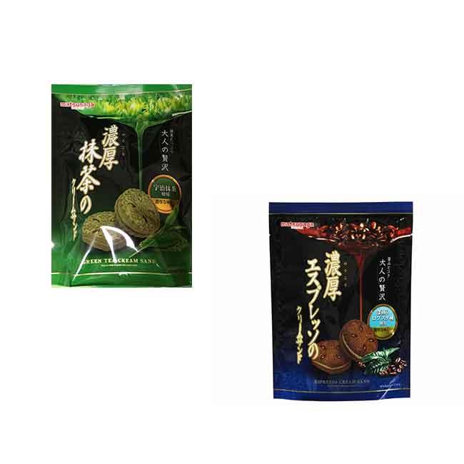 餅乾 日本 濃厚風味夾心餅 咖啡 抹茶 60g 日本製造進口