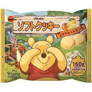 餅乾 日本 波本 BOURBON 小熊維尼蜂蜜檸檬軟餅乾 15入/160g 日本製造進口
