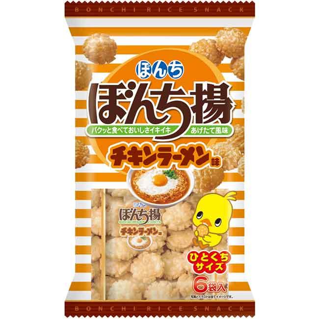 米果 日本日清 雞汁拉麵風味 6入/78g 日本製造進口