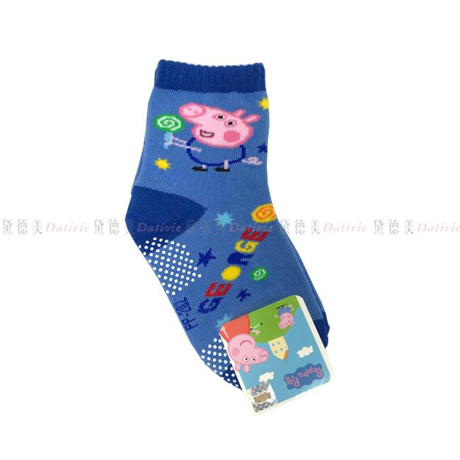 12-14cm 台灣製 佩佩豬 兒童 襪子 防滑 長襪 卡通襪