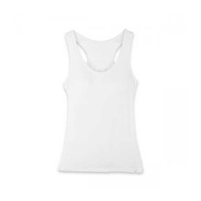 BraTop 瑪榭 罩杯式寬肩帶背心 立體罩杯 挖背背心 舒適集中 白色