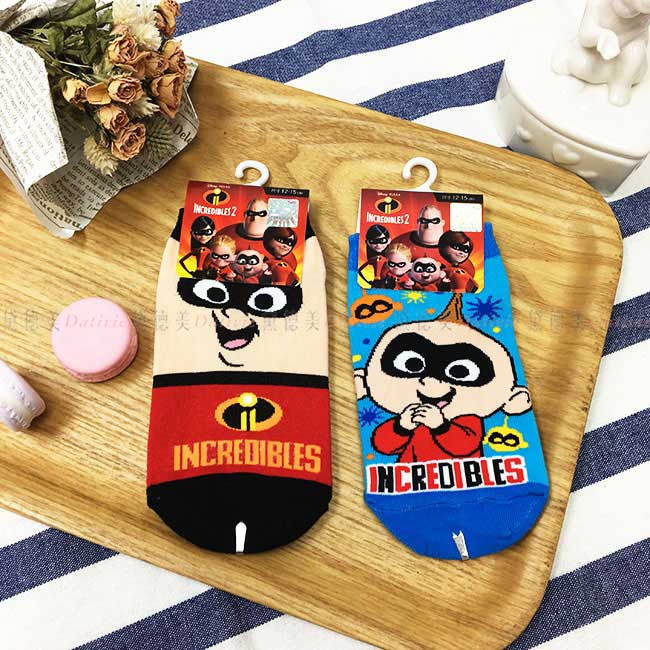 12~15cm 迪士尼 Disney 超人特攻隊 兒童襪 卡通襪 短襪 襪子 直版襪