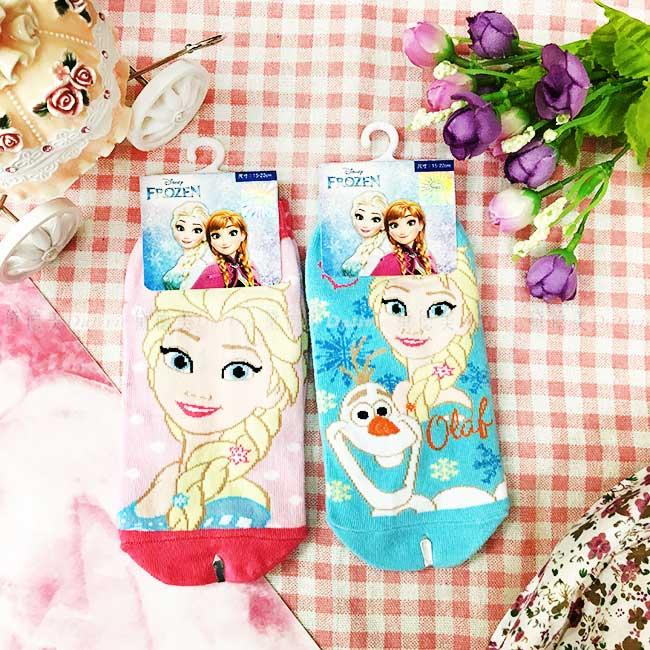 12~15cm 15~22cm 迪士尼 冰雪奇緣 艾莎 雪寶 兒童 直版襪 短襪 襪子